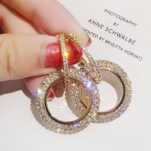Jewelry - Gorgeous  Crystal Pave earrings